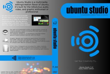 Ubuntu Studio 7.10 DVD Cover by miXvapOrUb