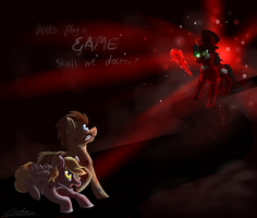 Doctor vs Damien by tory-the-fuzzball