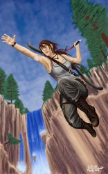 Lara Croft jumps by Semrosto