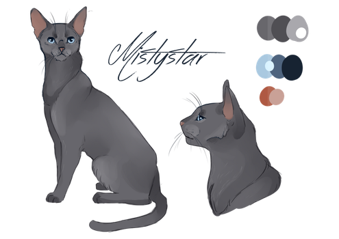 Mistystar - Character design by Whitefeatherink