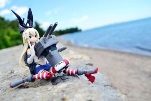 Shimakaze, Engaging in Shelling! by gale015