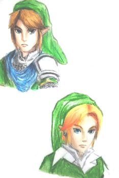 Link  Ocarina of Time and Hyrule Warriors by Larhen