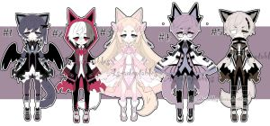 kemonomini adoptable batch open by AS-Adoptables