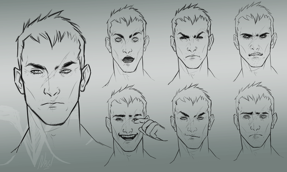 Soldier76. Emotions study by Nergal8