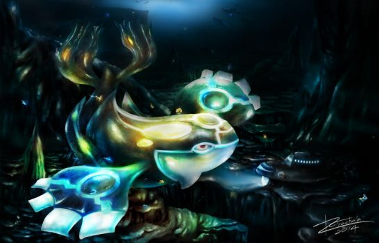 Mythology of Kyogre by TrachaaArMy