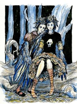 The Crow Girls by bluefooted