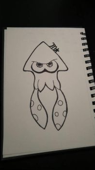 Splatoon Squid (Uncolored) by SupGal317