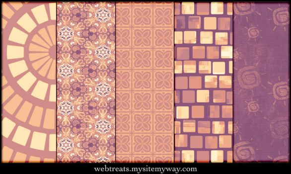 Lavender Peach Patterns Part3 by WebTreatsETC