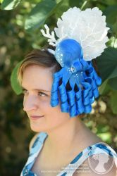 Octopus and Coral Fascinator by deeed