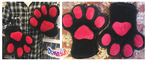 Black Handpaws With Red Pawpads by TECHNlCOLOUR
