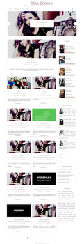 Nina Dobrev Wordpress theme by cherryproductionsorg
