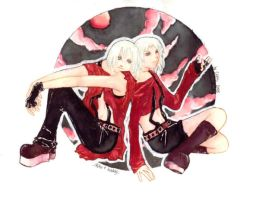 TWINS - Kadaj + Riku by Cephi-chan