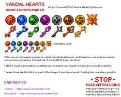 For RPG Maker - Vandal Hearts Icons by CarmenMCS