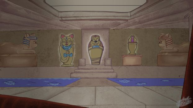 Tomb of Cats Stage(Commission for Hazard100) by MadArtsXIII