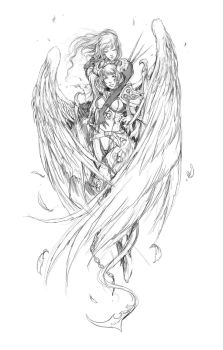 Angel and Devil 40k by Muju by Q99