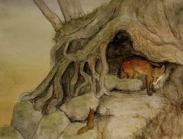 fox hole by moussee