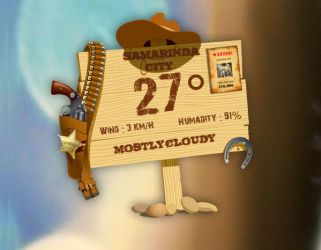 Cowboy Weather for XWidget by boyzonet