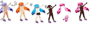 F2U Splatoon! Bases- Inkling Girl! V2 by Shiolily