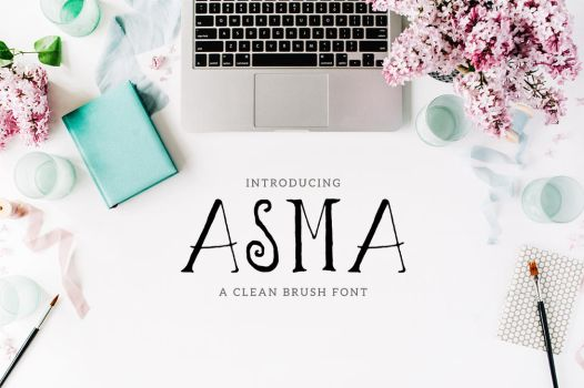 Asma Brush Font by inventivefarhan