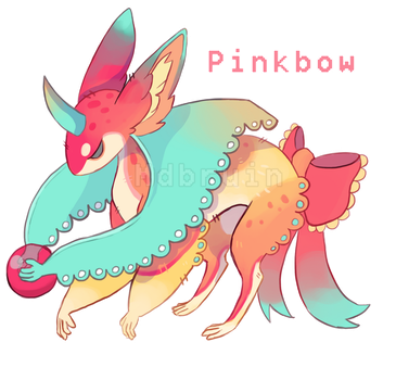 [CLOSED] Kitecoon - PinkBow by mdbruin