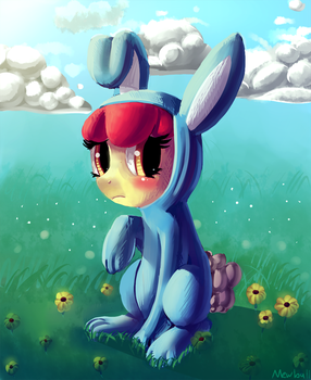 But I Don' Wanna Wear The Bunny Costume... by Mewball