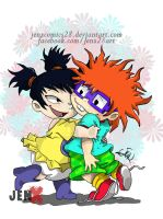 Chuckie and Kimi by JenXComics28