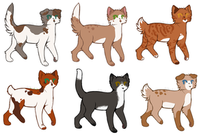 Group of Kitty Adopts by PoisonFate