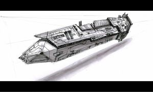 Imperial Dreadnaught by DrMan