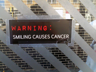 Smiling Causes Cancer by maikerukun9