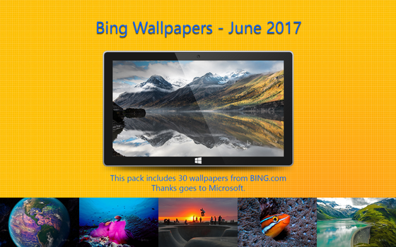 Bing Wallpapers - June 2017 by Misaki2009