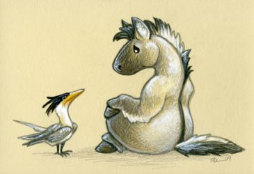 Tern and Tarpan by ursulav