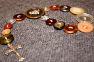 1-Decade Button Rosary by polegnyn