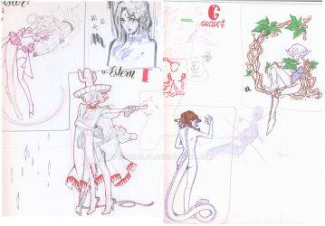 Sketchbook Scans : Sailor Moon Youma/Daimon by Dark-elfa