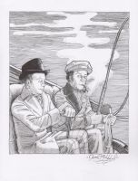Holmes and Watson by jessehbechtold