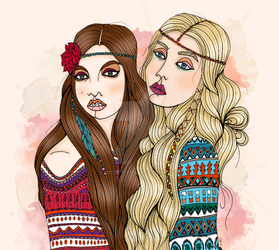 Bohemian Sisters by DissyButterfly