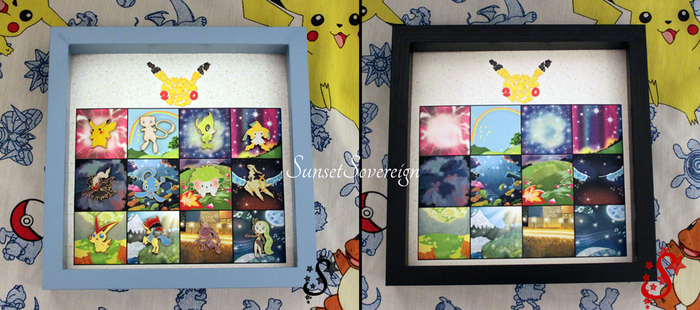 Pokemon Mythical Pin Display by SunsetSovereign