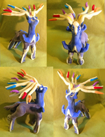 Xerneas plushie!! by kovuification