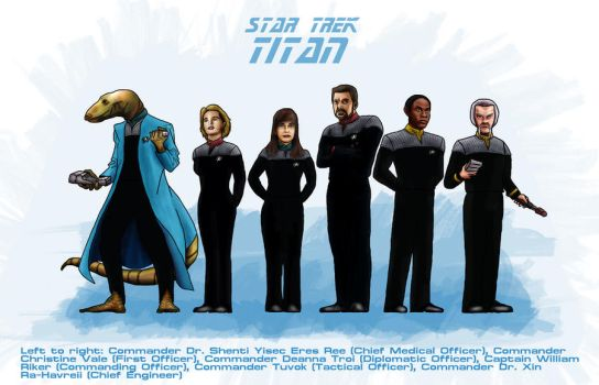 USS Titan Senior Staff by ShVagYeR