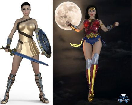 Iray - Heroines - Wonder Woman - Movie costumes by Daniel-Remo-Art