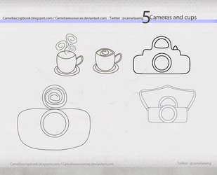 Cameras Ad Cups PNG by cameliaRessources