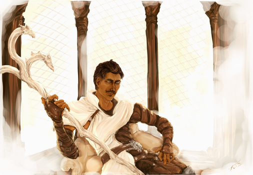 Dorian Pavus, the mage from Tevinter by Light-Tracer