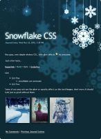 Snowflake CSS by Infinite705