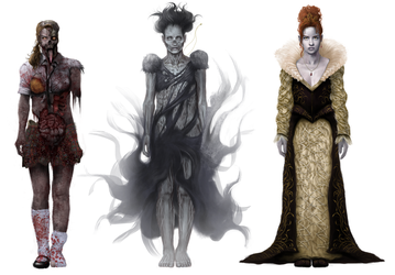 Concept Art 'Horror' Character Line-Up by Jay-Carpenter