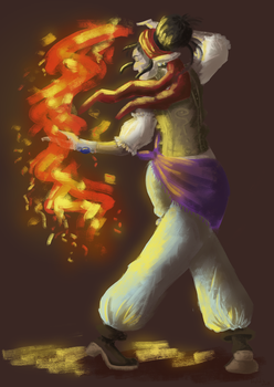[Dig] Firebender by hylidia