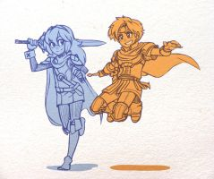 Roy  and Lucina by GuilhermeRM