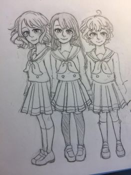 Hibike Euphonium Girls (wip) by CurlyPoof