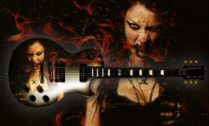 Courtney Flame Guitar - Les Paul Futura JGS - by jaidaksghost