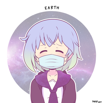 Earth-chan by Tkeio