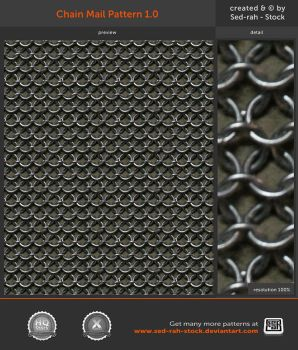 Chain Mail Pattern 1.0 by Sed-rah-Stock