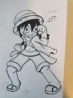Luffy Fighting Stance by JazCooper